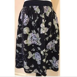 New York Company Skirt 4 Multicolored Full Floral